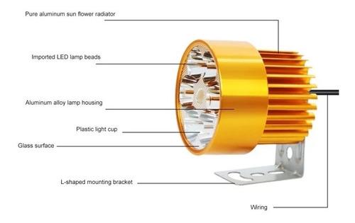 luces foco neblinero led 36w 12 led para moto / 206062