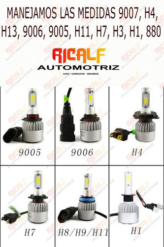 luces focos vision biled 3 caras s2 h4, h13,9007 automotriz