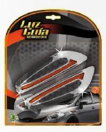 luces guía auto adhesivas 8 led o 32 led universales 12 v !!