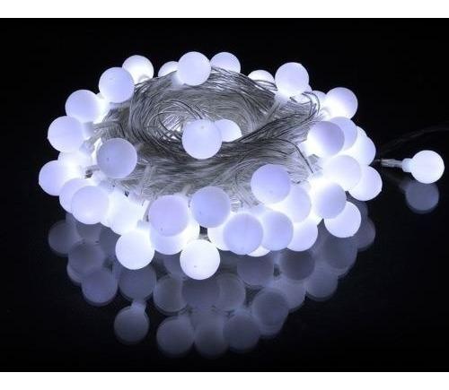 luces guirnalda 4 mts led bolitas luz fria tira led 220v