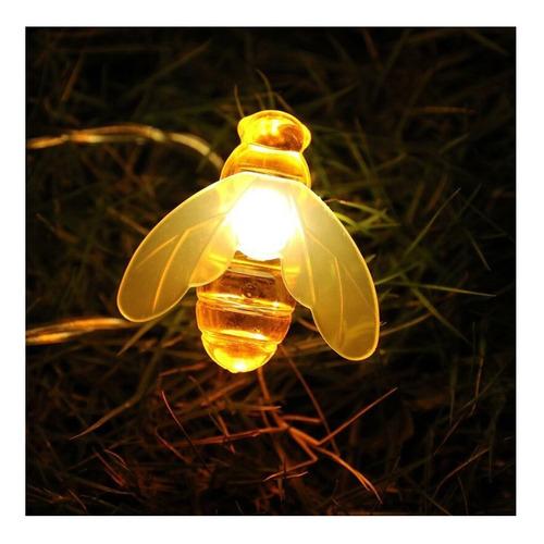 luces guirnalda led 28 abeja calida led 4 mtrs a 220v enchuf