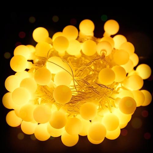 luces guirnalda led 28 bolitas calido tira led 4 mtr navidad