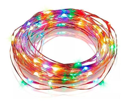 luces guirnalda micro led alambre tira 100 led pila colores