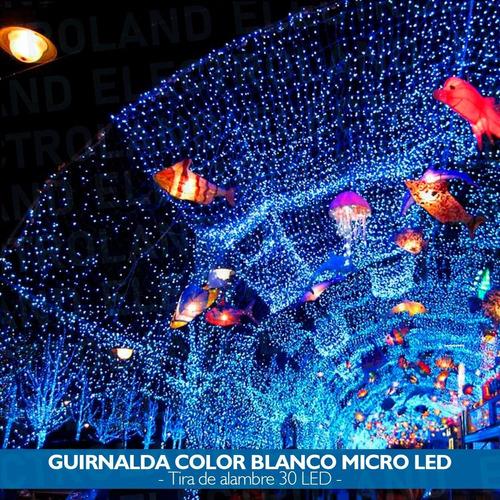 luces guirnalda micro led alambre tira 30 led a pilas frias