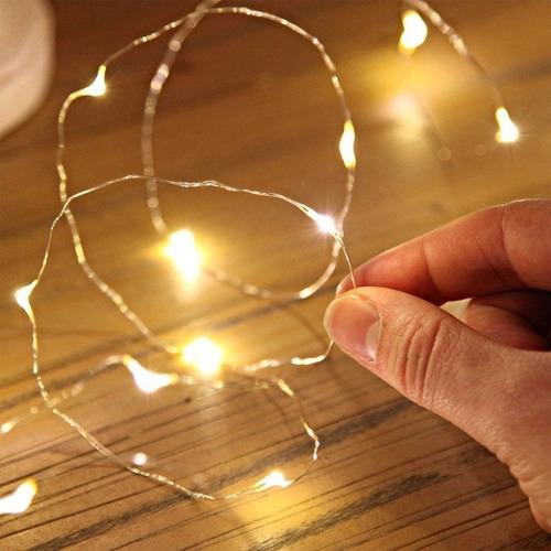 luces guirnalda microled alambre tira 100 led 10 mts a 220v