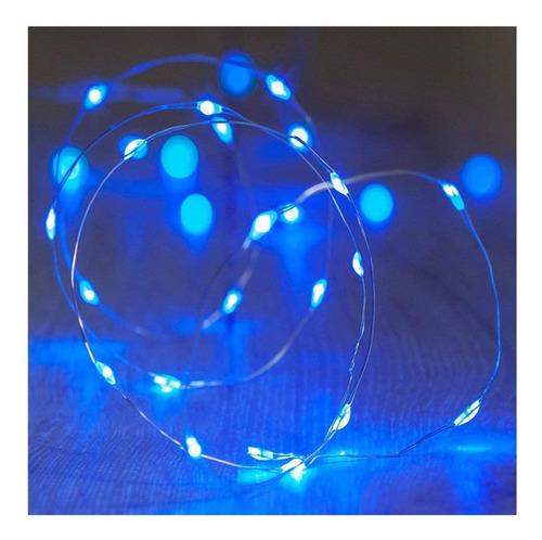 luces guirnalda microled alambre tira 30 led 3mts a pilas