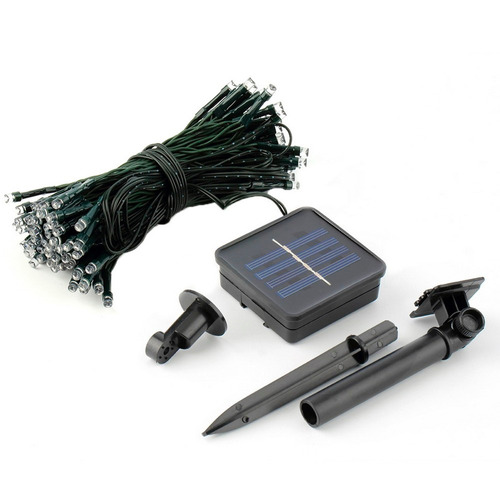 luces guirnalda solar 200 led blancas 20 mts /  / rebajas