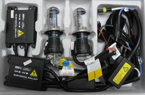 luces hid xenon h1, h3, h7, h11, kit completo 8000k, 35w
