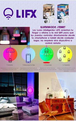 luces inteligentes lifx colores controladas por smartphone