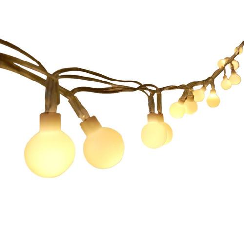 luces jardín navidad