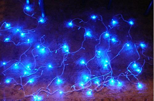 luces led 10mt azules, adorno, fiestas, navidad, halloween