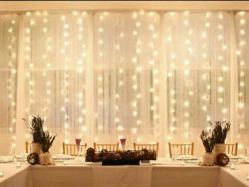 luces led 3x3m cortina 300f navidad ventana | delivery hoy!