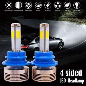 luces led 4 caras 60w 7200 lumens 6000k h4 h13 9007