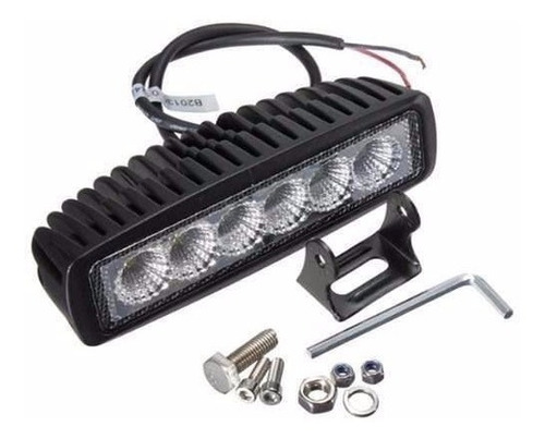 luces led 6 led cree 18w slim barrita