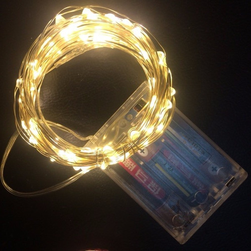 luces led acuáticas -10 metros -ámbar - a pilas