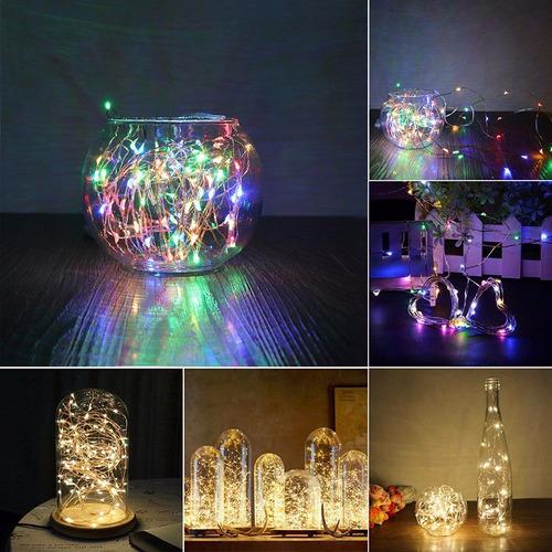 luces led acuáticas - ambar y multicolor - a pilas