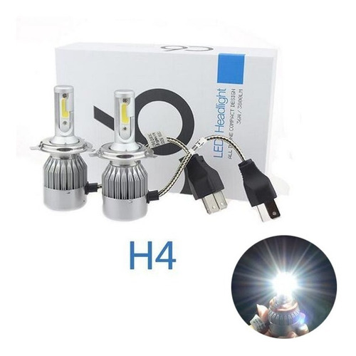 luces led auto kit lámparas h4 cree sexta generación