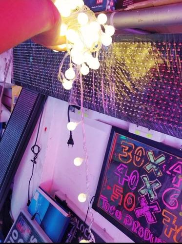 luces led bombilla tira canica 10 metros evento decoracion