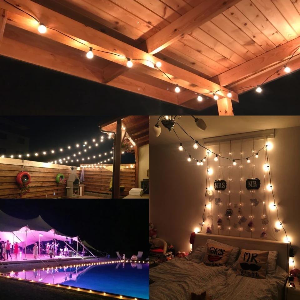 Luces Led Bombillas Para Patio Decoracion Jardin Terraza 7 M