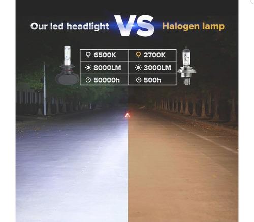 luces led bombillo para carro h4 8000lm/80w/6500k