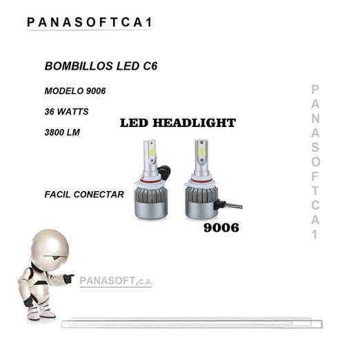 luces led c6 bombillo carro hid 72w/7600lm h7 h11 880  6000k
