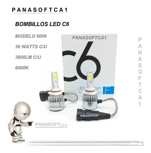 luces led c6 bombillo carros luz hid 72w/7600lm h3 6000k