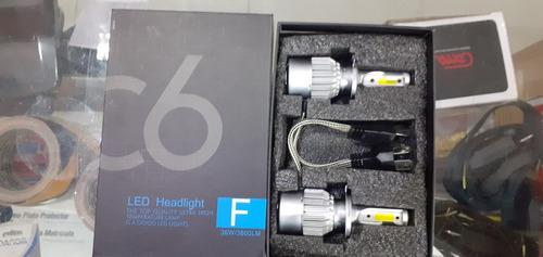 luces led c6 carro par 3800lm h1 h3,h7,h11,9005, 9006