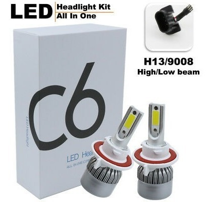 luces led c6 faros carros motos h4 h13 9007  7600 lm
