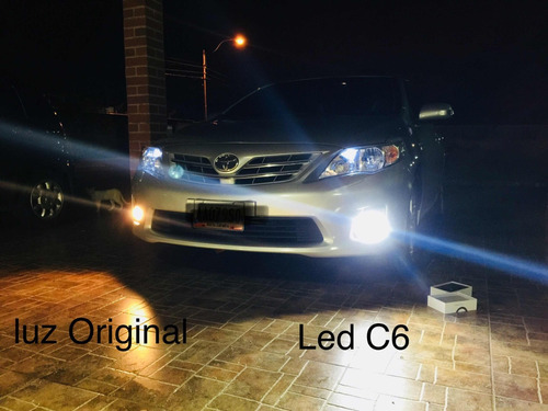 luces led c6 y s2 h1, h4, h7, h11, 9005, 36w/ 7600 y 8000 lm