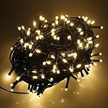 luces led calida 300f lineal 20m navidad   delivery hoy!
