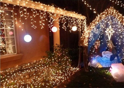 luces led cascada 2/4/6/8/10/12m decoración eventos p/oferta