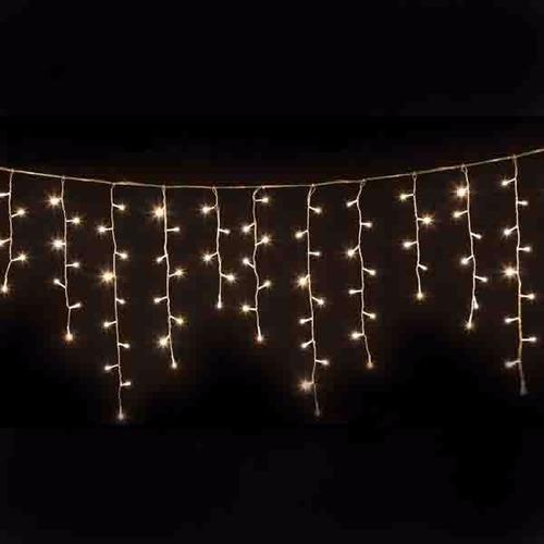 luces led cascada de 7 metros dorado calido descoracion