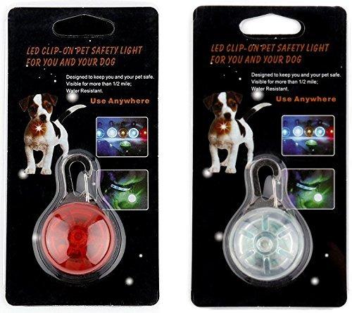 luces led collar de perro | 2 paquete de luces led de segur