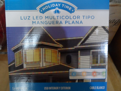 luces led colores manguera plana navideñas holiday time