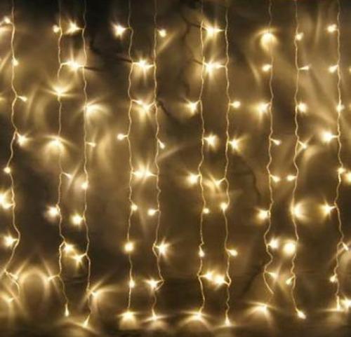 luces led cortina 5 d largo x 3 calido 20 tiras para eventos