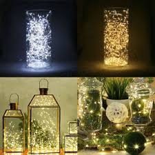 luces led de hada a pilas sumergible eventos navideño 50 led