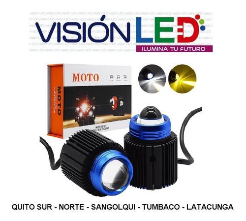 luces led doble color ambar y blanca moto auto
