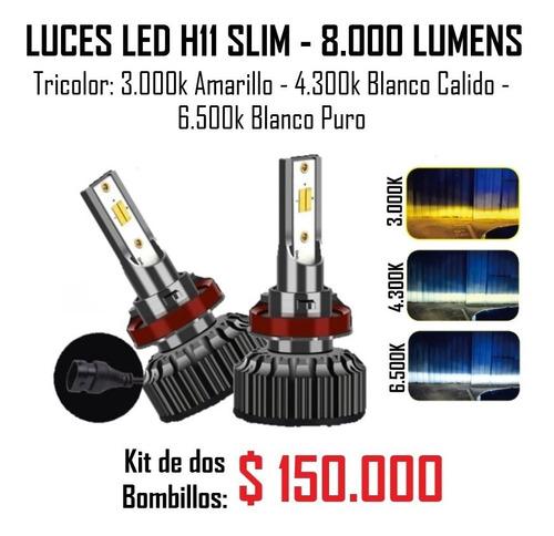 luces led h1 tricolor de 8.000 lumens