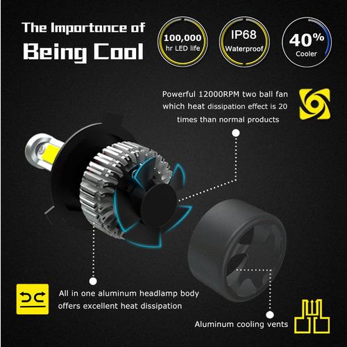 luces led h7 x2 nighteye 9000lm plug&play 6500k superprecio