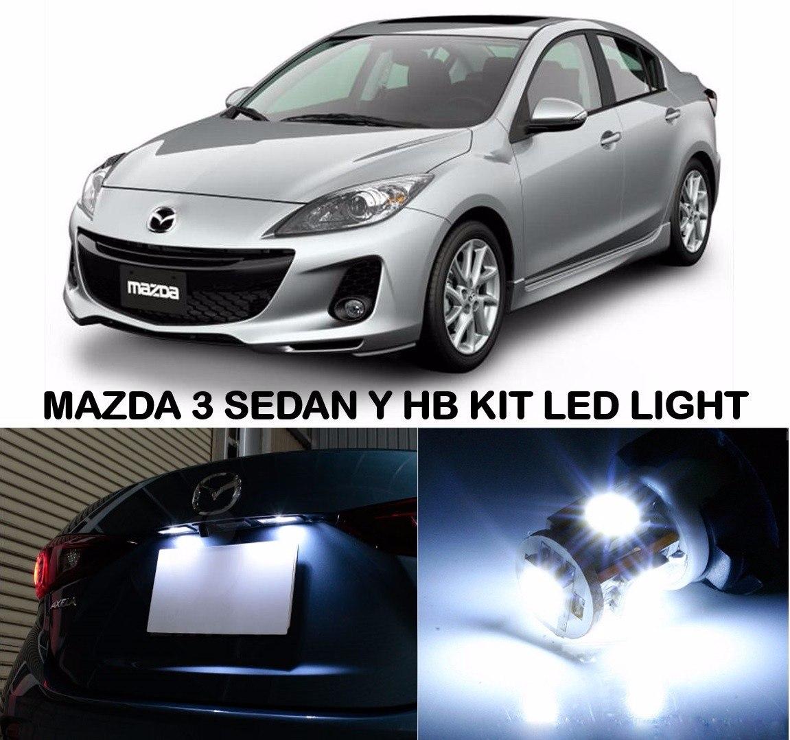 Luces Led Mazda 3 2010 Al 2012 Interior Portaplacas En Mercado Libre
