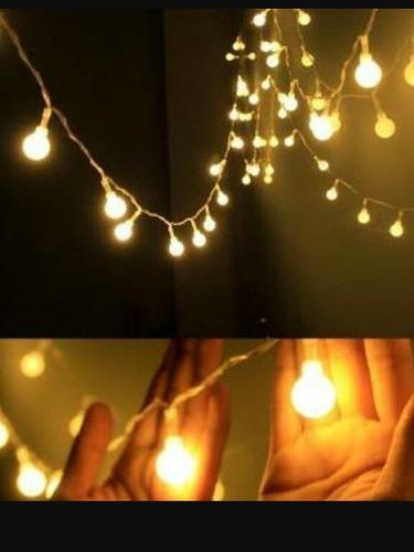 luces led modelos canica 8 metros - luz cálida ambar y azul