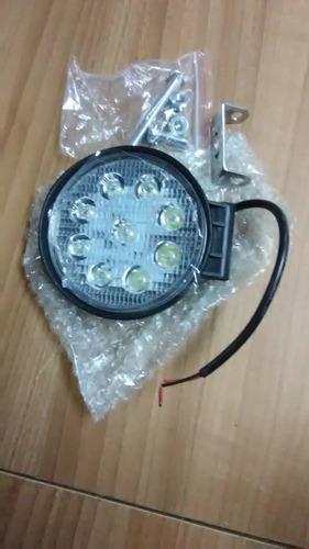 luces led o barra 9 led redonda el par