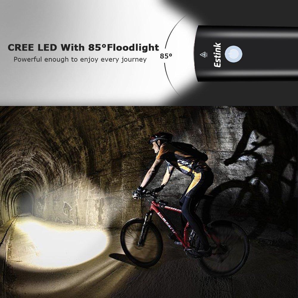 b4551ddb2 luces led para bicicleta parte delantera atrás usb juego ... Cargando zoom.