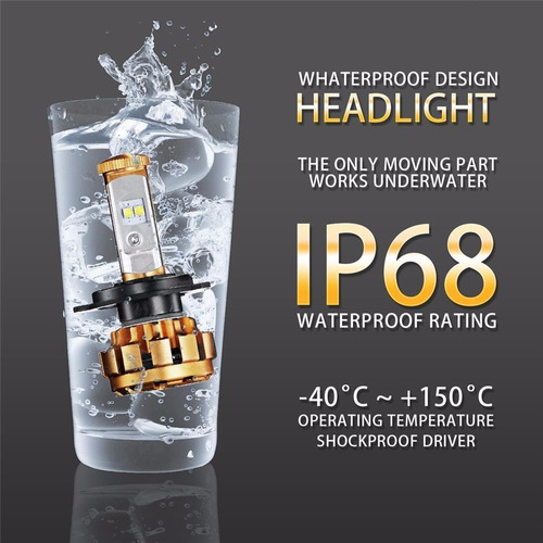 luces led para vehículos h4 50w chips cree con canbus
