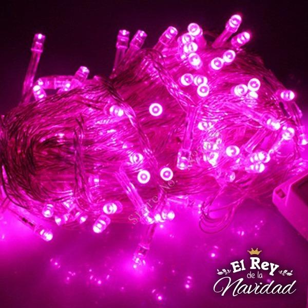ffaf06179c9 Luces Led Rosa Magenta 10 Mts Navidad Navideña Casamiento -   220