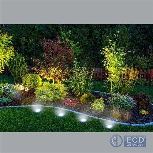 Luces led solar exterior jardin kit x 4 lamparas con for Luces led jardin ikea
