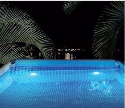 Luces led sumergibles para piscina de vinil intex bs 35 - Luces para piscina ...