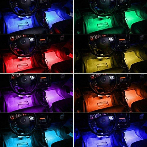 luces led tunning ambiente piso carro  + control remoto