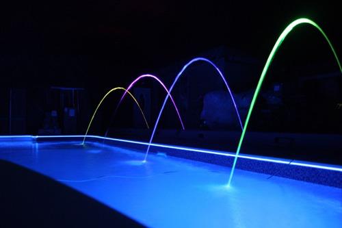 luces leds para piletas color blanco