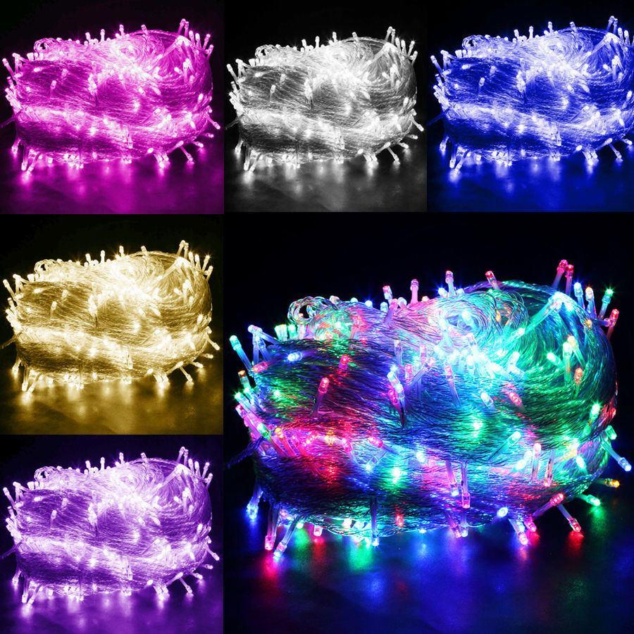 Serie tira de luces led 100 luces para exterior e interior - Luces de exterior led ...